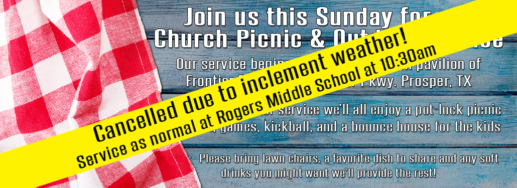 Church Picnic Cancelled